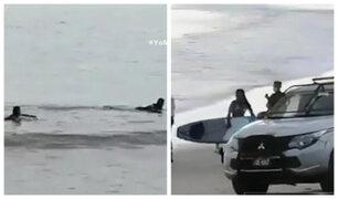 Piura: detienen a tablistas que practicaban surf en playas de Máncora
