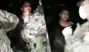 Piura: separan a militar que golpeó a joven intervenido durante cuarentena