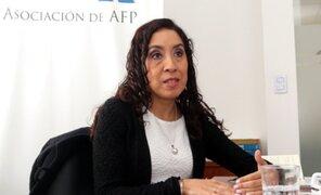 Giovanna Prialé sobre pérdidas en AFP: No es momento oportuno de liquidar fondos