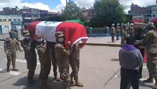 Militar arrollado en Puno fue declarado héroe de la provincia de El Collao-Ilave
