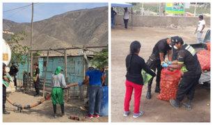 Pachacámac: entregan agua potable y alimentos a zonas más necesitadas