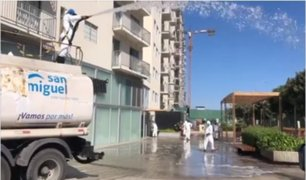 Jesús María: desinfectan y limpian calles del distrito para evitar propagación del COVID-19