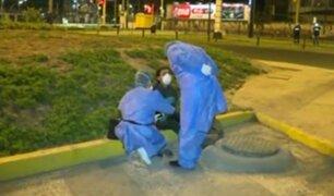 Jesús María: personal de EsSalud atiende a ciudadana presuntamente infectada