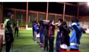 Coronavirus: jóvenes desafían cuarentena y se van a jugar fútbol