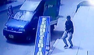 Chorrillos: ladrones asaltan camion repartidor de gas en plena crisis por el COVID-19