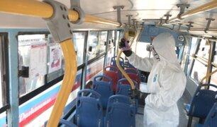 ATU: Intensifican labores de limpieza y desinfección en medios de transporte