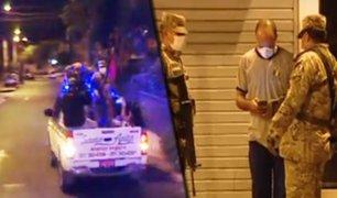 Santa Anita: más de cuarenta detenidos en operativo en pleno toque de queda