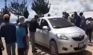 Ayacucho: comuneros castigan a conductores por infringir aislamiento obligatorio