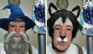 Sacerdote activa filtros graciosos durante transmisión en vivo