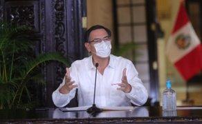"""Martín Vizcarra: """"Tenemos 1323 casos de Covid-19. De los cuales, 198 están hospitalizados"""""""