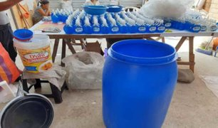 Carabayllo: PNP detuvo a tres personas que fabricaban gel desinfectante adulterado