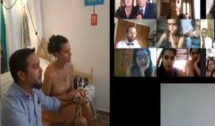 Coronavirus: pareja de argentinos se casa en una transmisión en vivo