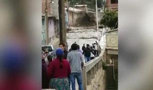 Huánuco: huaico afectó más de 10 viviendas y destruyó un puente