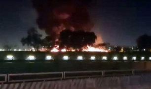 VIDEO: ocho muertos deja incendio de avión en Filipinas