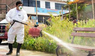 Covid-19: municipio  de Mi Perú realiza limpieza y desinfección de calles