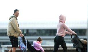 Cristiano Ronaldo recibe duras críticas por pasear a sus hijos durante cuarentena