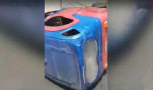 Los Olivos: mototaxi se vuelca cuando huía de serenazgo