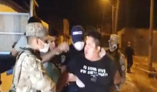 Huacho: a balazos detienen a sujetos que estaban bebiendo durante toque de queda