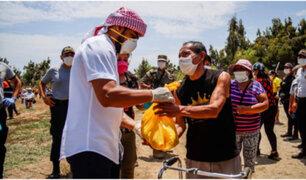 Yaqoob Mubarak: empresario árabe entregó bolsas con víveres en La Libertad