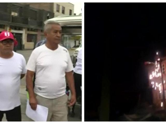 Cercado de Lima: vecinos indignados por falta de luz hace cuatro días