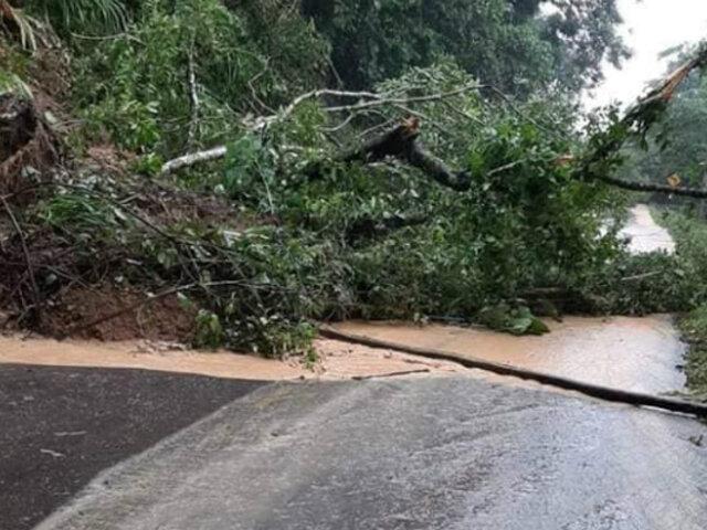 San Martín: desborde de quebrada Rumiyacu afectó zona turística y bloqueó vía