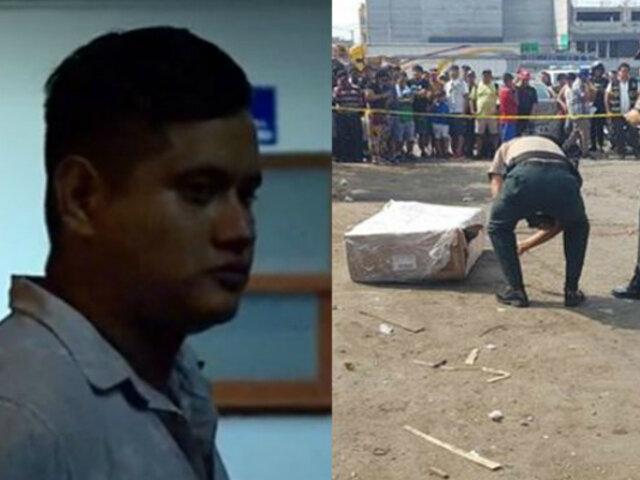 La Victoria: detienen a sospechoso del asesinato de mujer hallada en caja