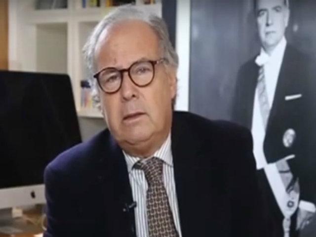 Alfredo Barnechea es un voceado candidato a la presidencia de Acción Popular