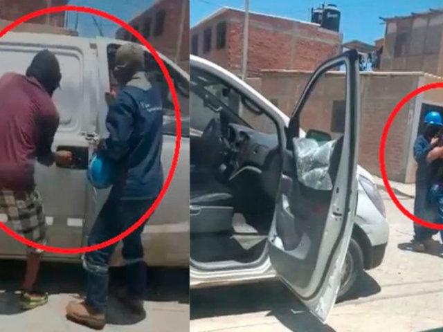 Piura: usan a trabajador como escudo humano para huir de la Policía