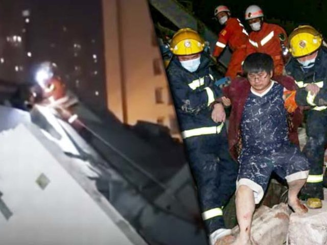 China: continúa rescate en hotel derrumbado con personas aisladas por Coronavirus