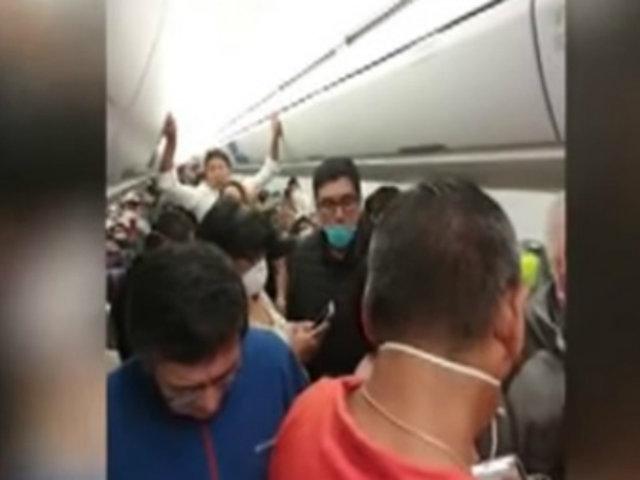 Coronavirus en Perú: pasajeros de avión se atrincheraron tras quedar varados