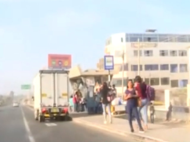 Estado de emergencia: así se encontró transporte informal en la Panamericana Sur