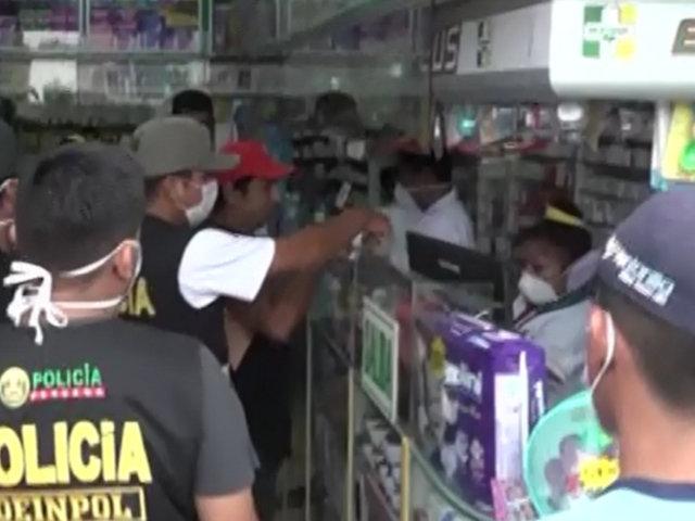 Ventanilla: intervienen a farmacias por vender mascarillas a elevados precios