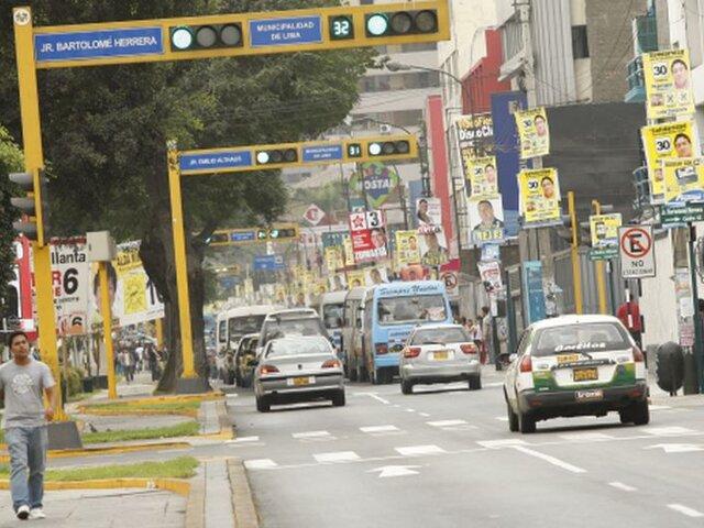 Avenida Arequipa luce sin colectiveros en aislamiento obligatorio