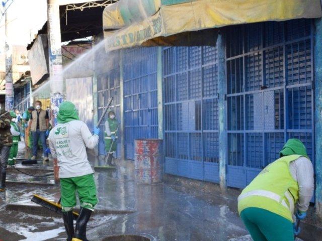 Coronavirus en Perú: realizan trabajos de limpieza y desinfección en mercados de SJL