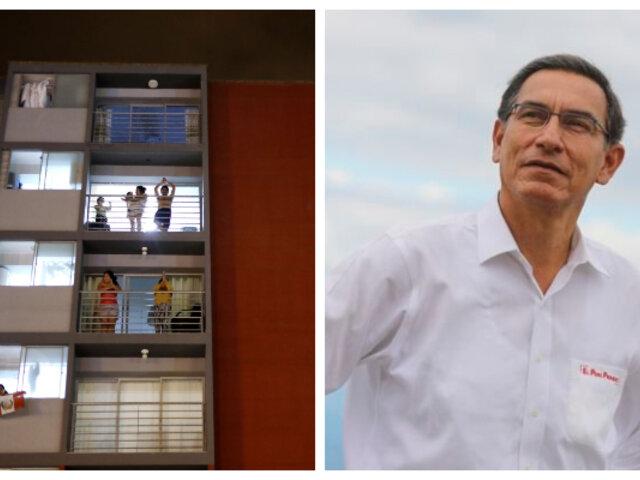 """Peruanos cantaron el popular """"Feliz cumpleaños"""" a Martín Vizcarra"""