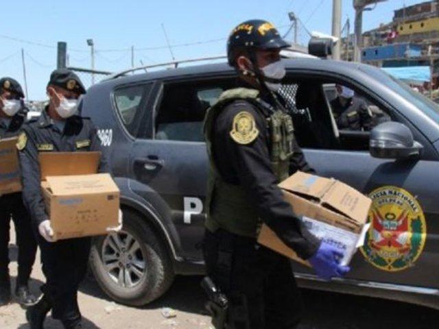PNP donó alimentos y mascarillas a familias vulnerables de SJM para hacer frente al COVID-19