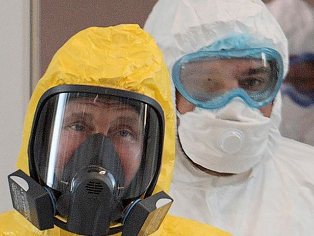 Presidente Vladimir Putin visitó hospital ruso que atiende pacientes con coronavirus