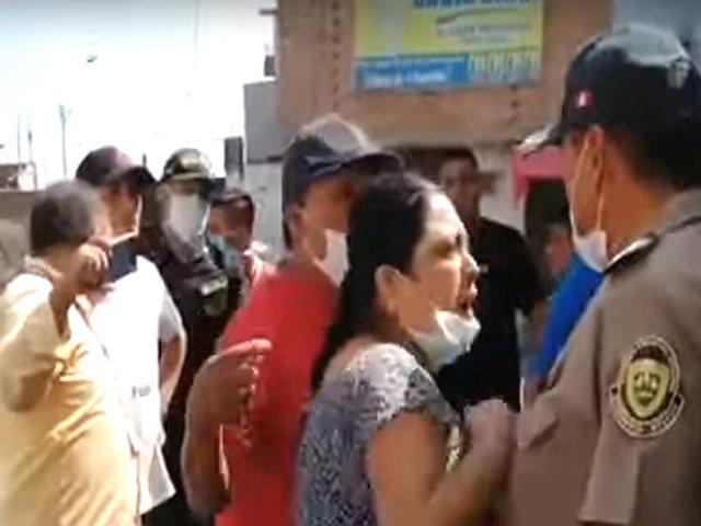 Huacho: nuevo caso de agresión a un Policía se registró durante intervención