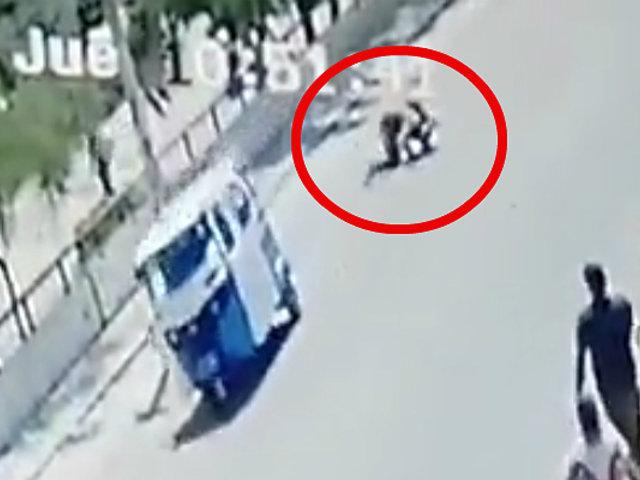 Piura: mototaxista arrastra y hiere a capitán de la FAP