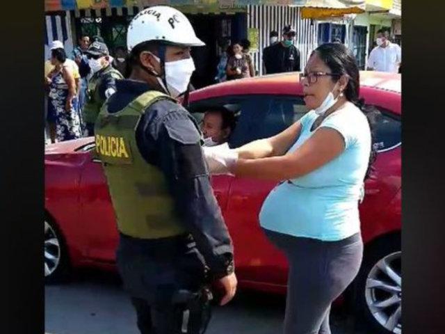 Coronavirus: mujer embarazada agredió a policía que la intervino en cuarentena