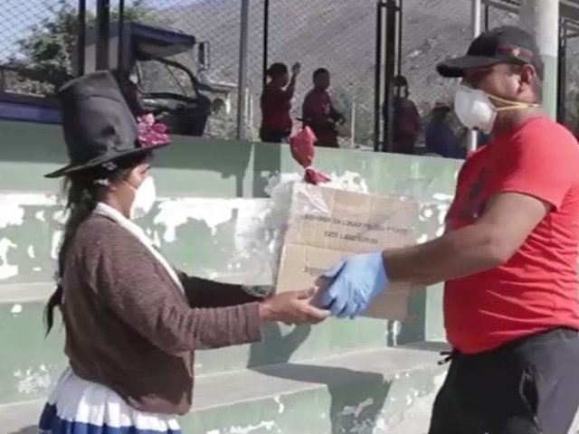 Coronavirus: entregan alimentos a familias más necesitadas en Pachacámac