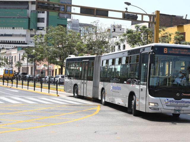Covid-19: MTC informó que servicio de El Metropolitano no se suspenderá