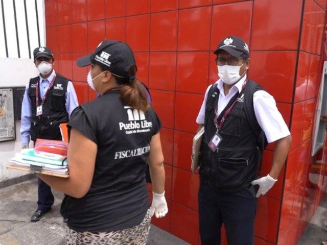 Pueblo Libre: municipio fiscaliza que bancos cumplan con medidas sanitarias para frenar coronavirus