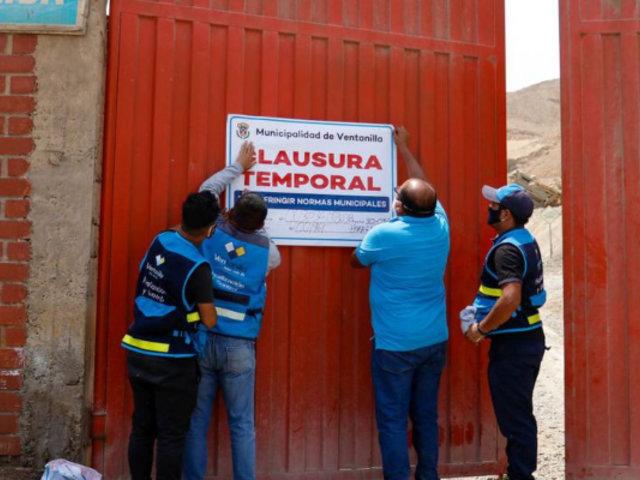 Ventanilla: clausuran empresa por funcionar en pleno estado de emergencia