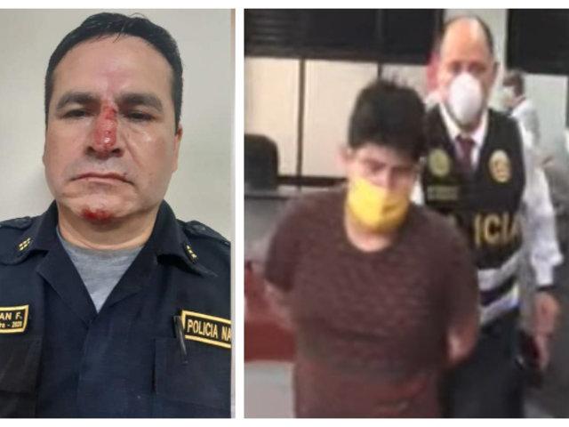 Ordenan 9 meses de prisión preventiva para sujeto que agredió a policía