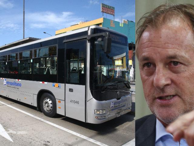 """Jorge Muñoz sobre Metropolitano: """"La próxima semana se aprobaría norma para subsidio"""""""