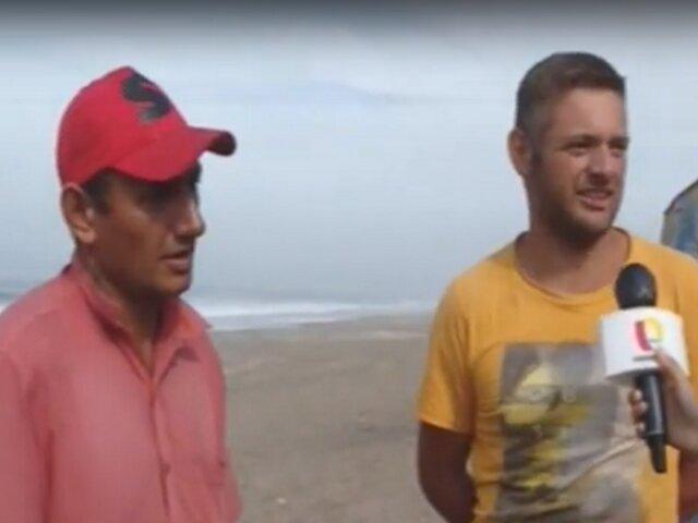 Hermanos argentinos pernoctan en playa de Chorrillos tras quedarse sin trabajo