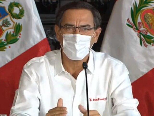 Presidente Vizcarra: El jueves se conocería si se amplía cuarentena