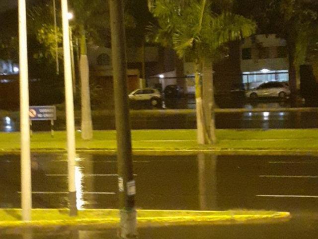 Usuarios reportaron así intensa lluvia en varios distritos de Lima