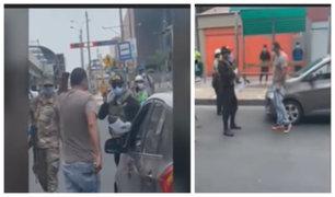 Oficial PNP no pudo reducir a prepotente chofer en San Borja